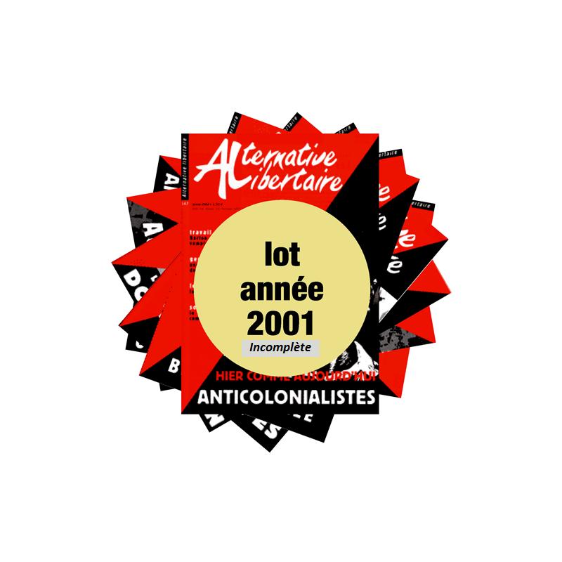 Lot : les journaux de l'année 2001 année incomplète