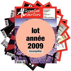 Lot : les journaux de l'année 2009 année incomplète