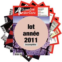 Lot : les journaux de l'année 2011 année incomplète