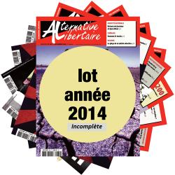 Lot : les journaux de l'année 2014 année incomplète