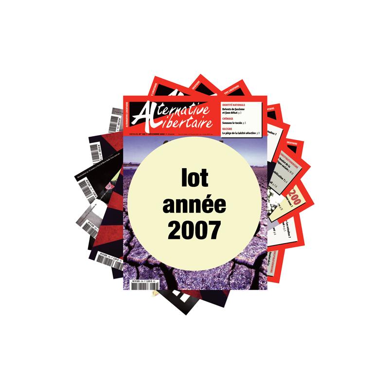 Lot : les journaux de l'année 2007
