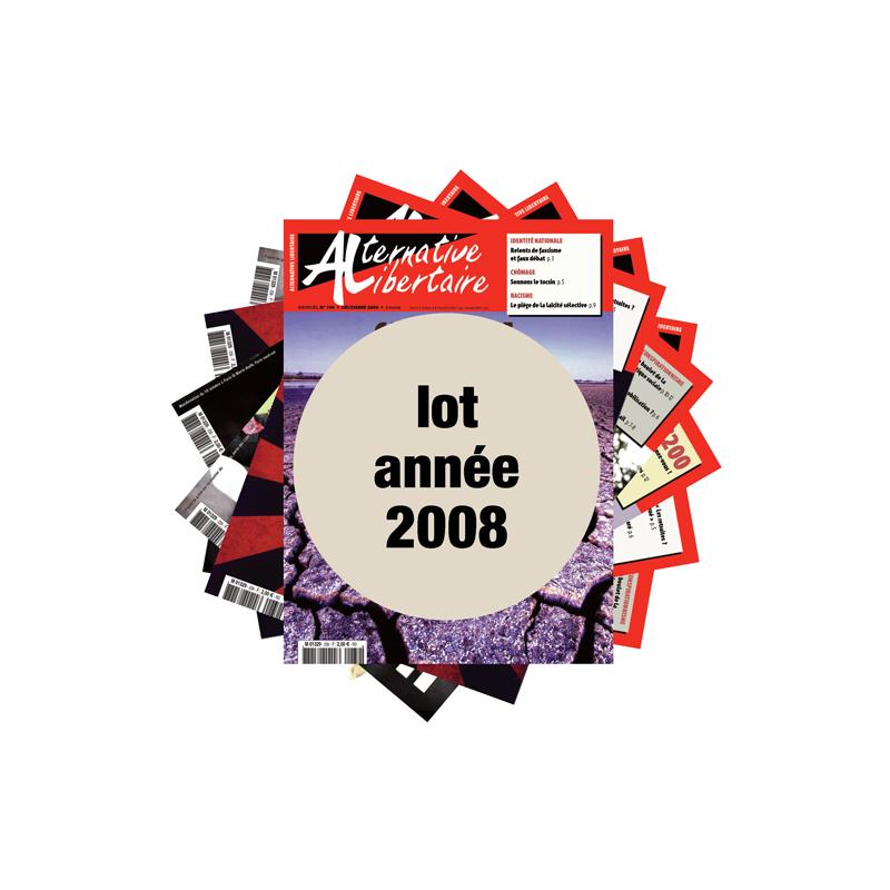 Lot : les journaux de l'année 2008