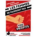 (x100) Autocollants ''Les femmes ne paieront pas vos profits''