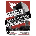 (x100) Autocollants ''Assurance chômage''