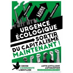 (x100) Autocollants ''Urgence écologique''