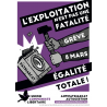 (x100) Autocollants ''Exploitation pas une fatalité''