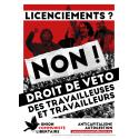(x100) Autocollants ''Droit de veto des travailleuses et travailleurs''
