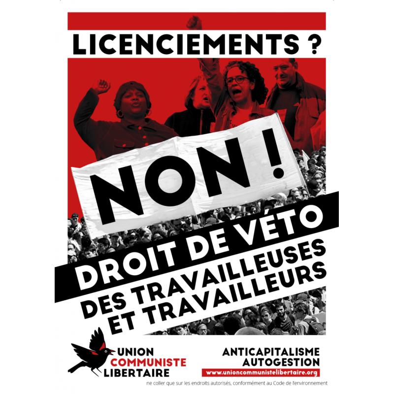 (x50) Affiches ''Droit de veto des travailleuses et travailleurs''